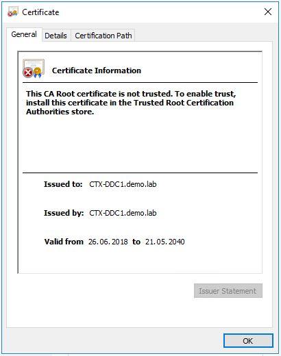Citrix Lizenz Server, selbstsigniertes Zertifikat ersetzen