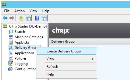 XenDesktop Create Delivery Group 001