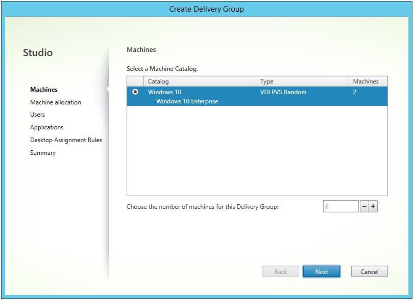 XenDesktop Create Delivery Group 002