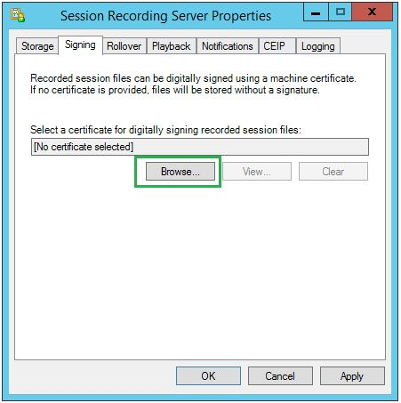 Session Recording Config 003
