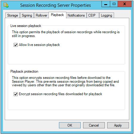Session Recording Config 005