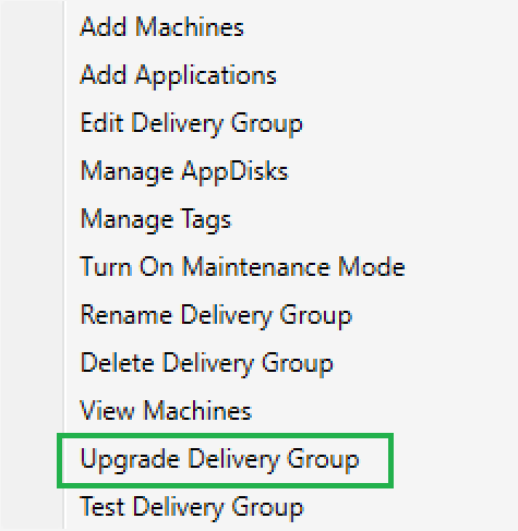 Upgrade Delivery Group 01
