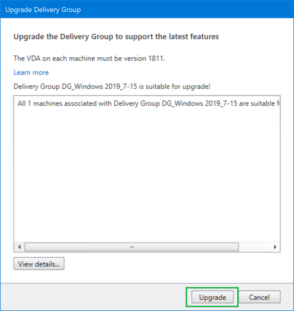 Upgrade Delivery Group 02