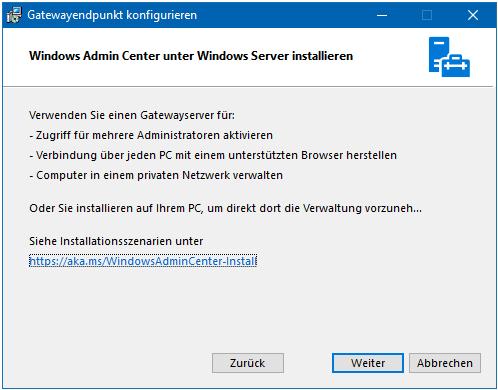 Windows Admin Center - Überblick