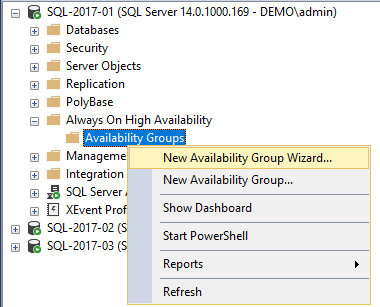 601 Availability Group Setup