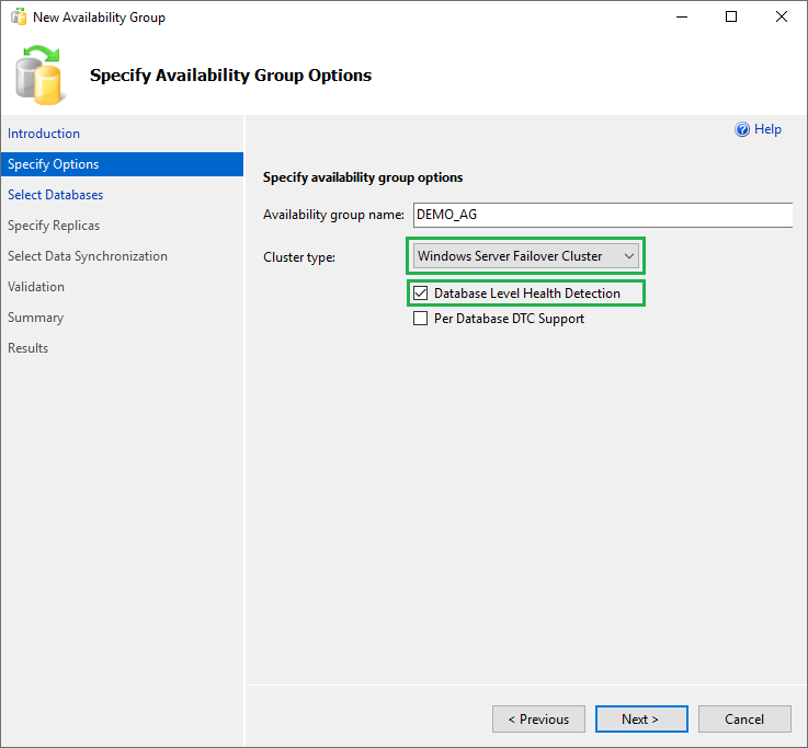 603 Availability Group Setup