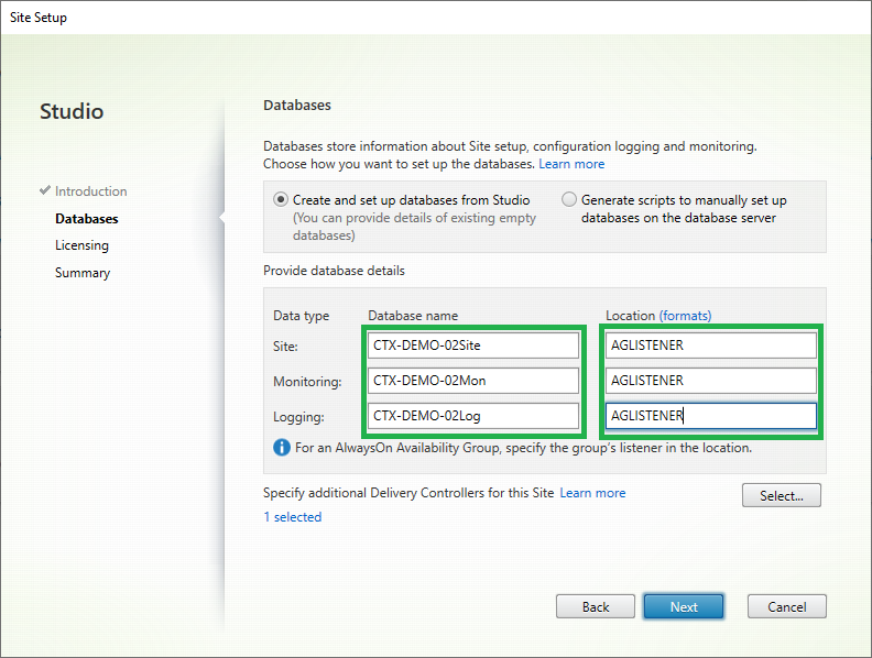 Option2 02 Citrix Initial Config