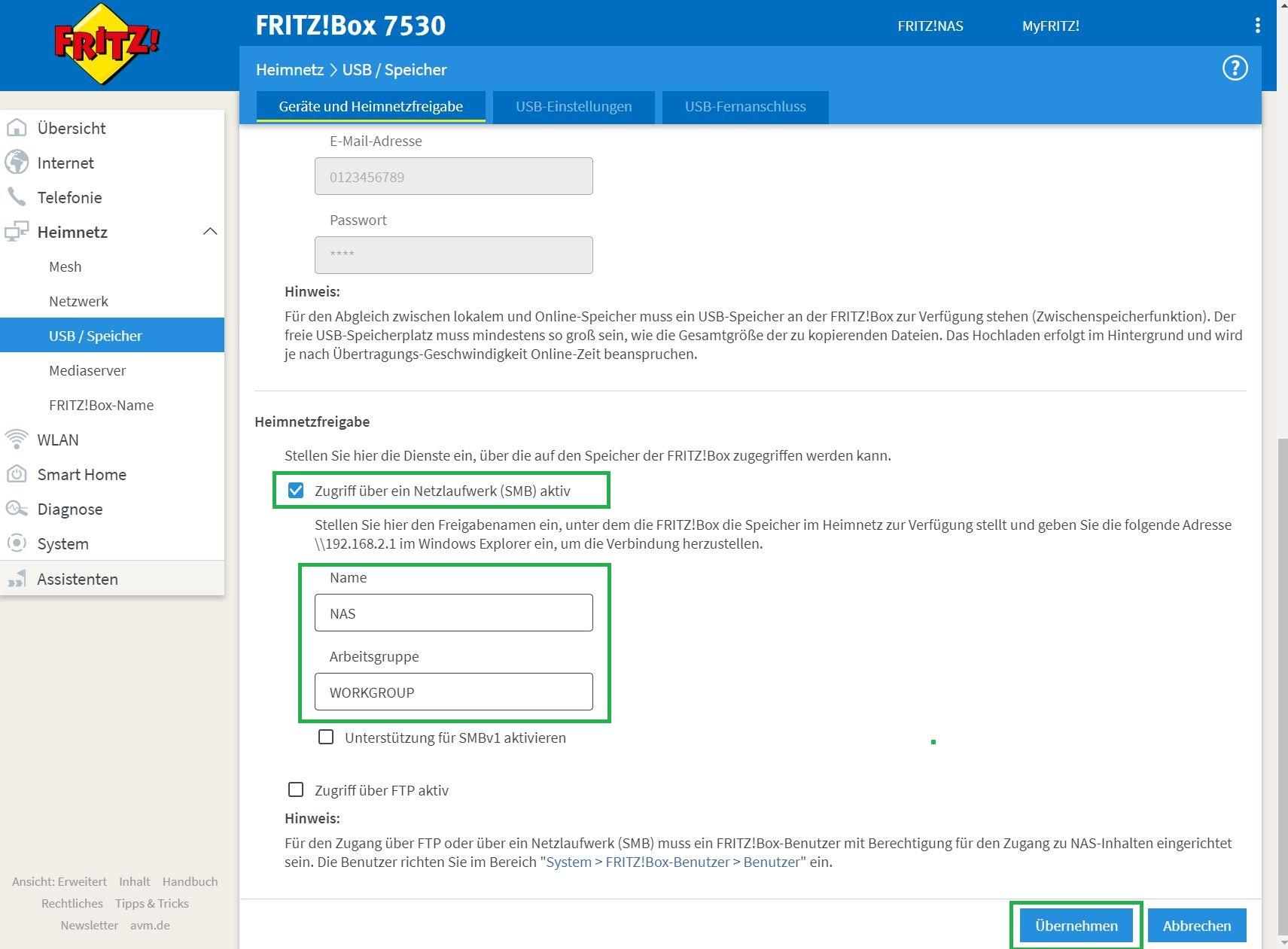 Veeam Backup auf FritzBox NAS einrichten